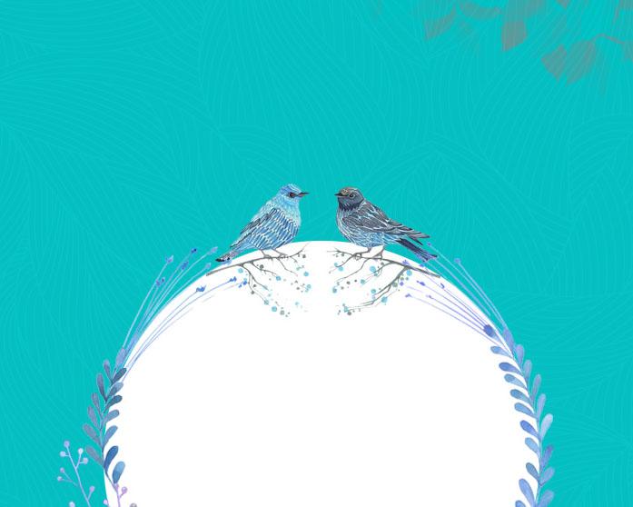 小鸟相框PSD素材