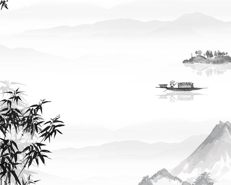 竹子船风景PSD素材