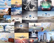 航空飛機交通攝影高清圖片