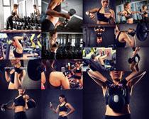 健身運動美女拍攝高清圖片