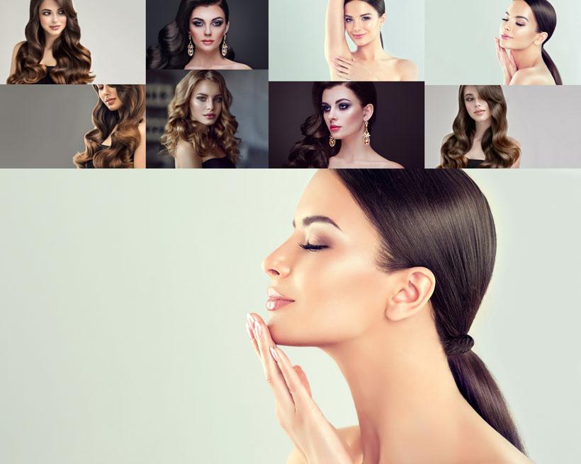肌膚發型美女攝影高清圖片