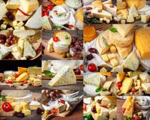奶酪蛋糕与水果摄影高清图片