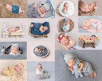 睡觉的写真宝宝拍摄高清图片