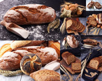 小麦面包早餐摄影高清图片