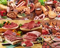 香肠瘦肉展示摄影高清图片