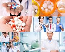 医生与药丸摄影高清图片