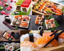 寿司与调料食物摄影高清图片
