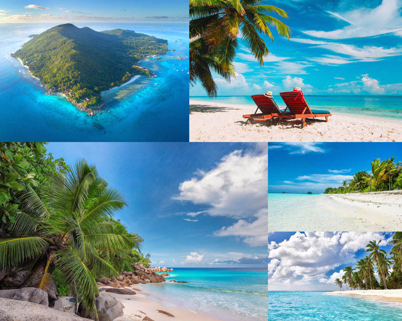 海岛沙滩风景拍摄高清图片