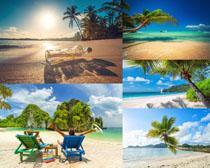 沙滩大海美丽风景摄影高清图片