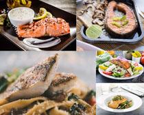 海鲜烤鱼美食摄影高清图片