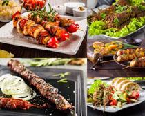 烧烤食物展示拍摄高清图片
