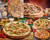 披萨展示摄影高清图片