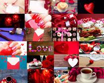 情人節巧克力花朵攝影高清圖片