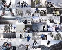 滑雪的国外人物摄影高清图片
