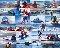欧美人物滑雪摄影高清图片