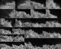 海浪黑白摄影高清图片