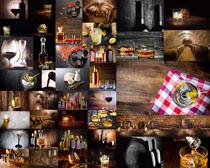 红酒饮料展示拍摄高清图片