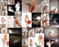 天使翅膀模特美女摄影高清图片