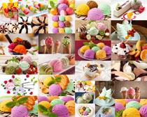 彩色冰淇淋摄影高清图片