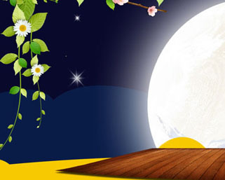 月圆中秋横幅PSD素材