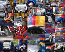 汽车全自动清洗摄影高清图片