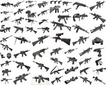 槍支展示攝影高清圖片