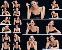 化妆微笑美女摄影高清图片
