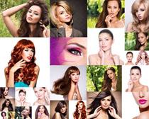 時尚化妝美女拍攝高清圖片