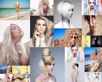 性感模特发型写真拍摄高清图片