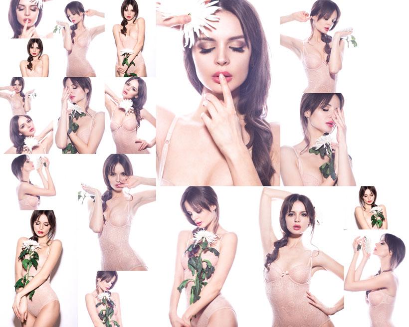 性感內衣模特美女拍攝高清圖片