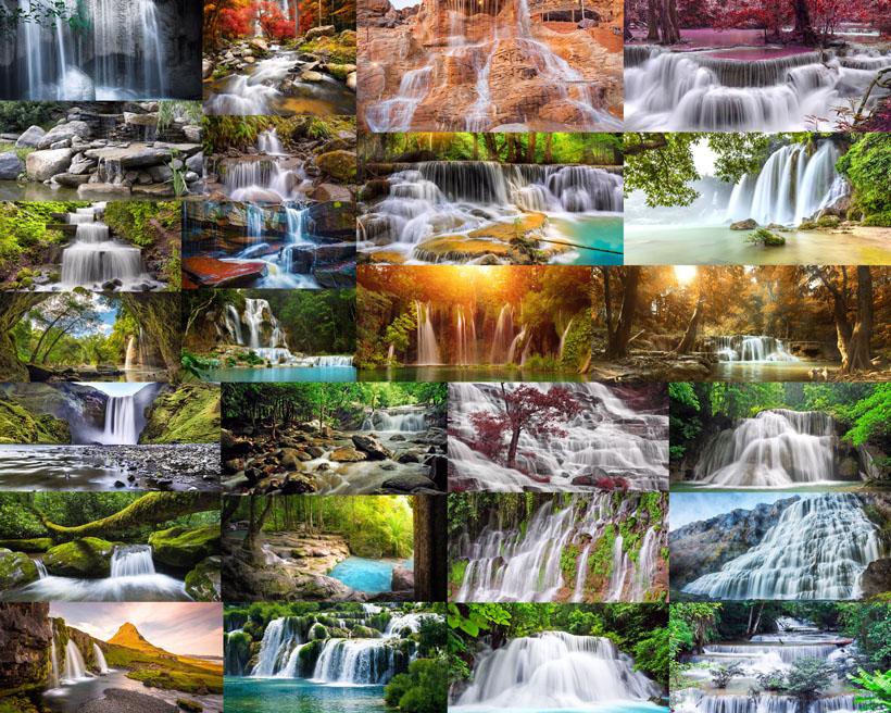 漂流瀑布摄影高清图片