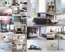 臥室床沙發布置攝影高清圖片