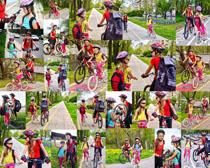 骑自行车的小孩子摄影高清图片