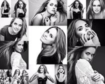 歐美美女黑白照片攝影高清圖片