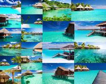 大海房屋景色摄影高清图片
