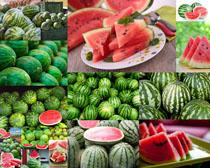 大红西瓜摄影高清图片