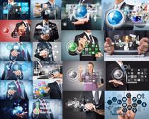 商务人士与数码科技摄影高清图片