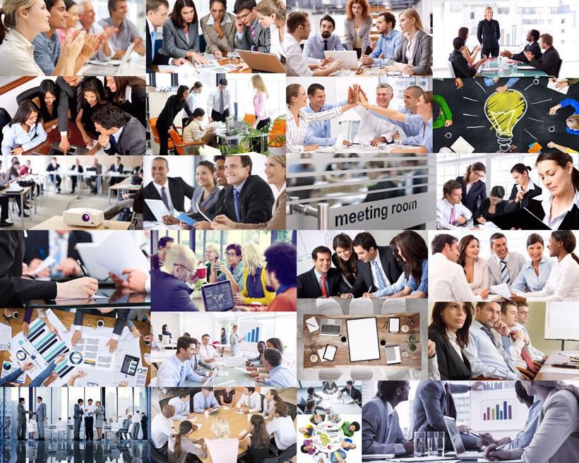 商务会谈会议摄影高清图片
