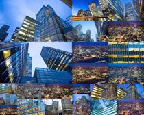 城市玻璃大廈攝影高清圖片