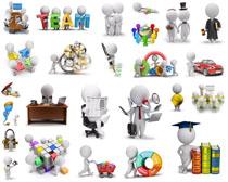 3D小人物商务摄影高清图片