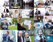 平板与商务人士摄影高清图片