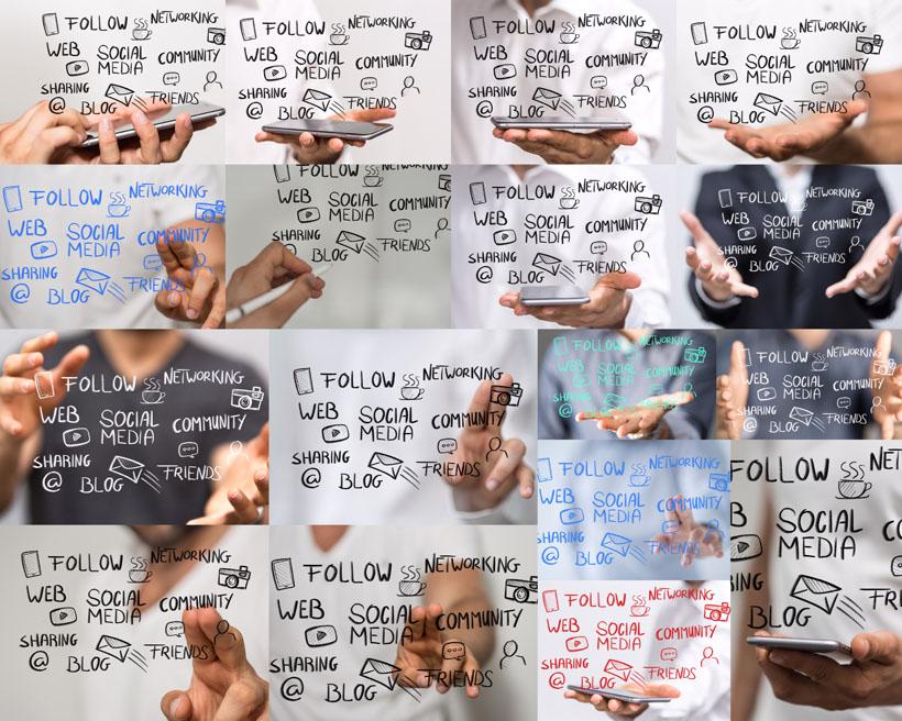 手势与字母玻璃摄影高清图片