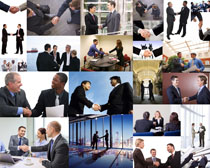 商務握手合作攝影高清圖片