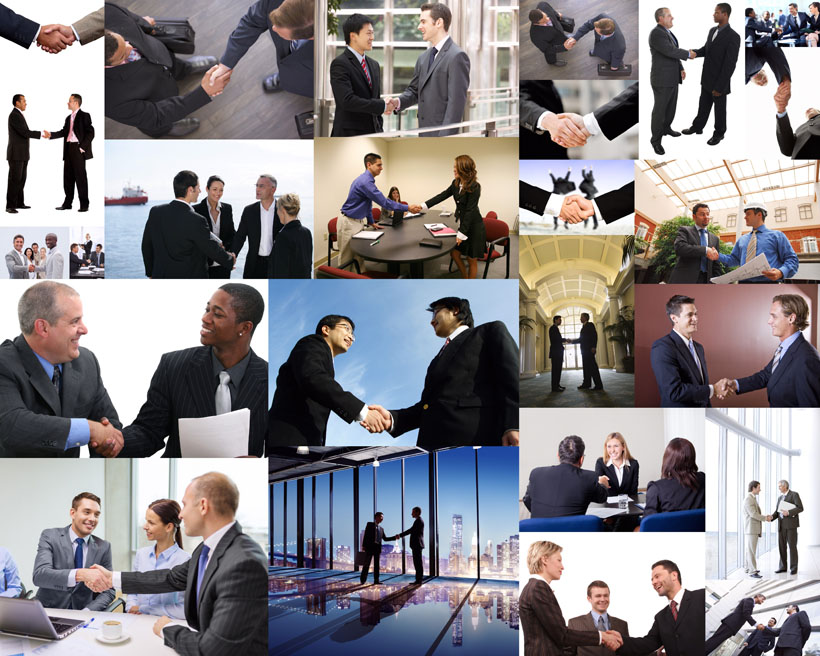 商务握手合作摄影高清图片