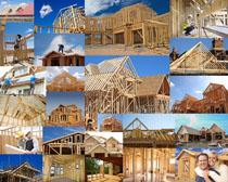 木頭建筑屋子攝影高清圖片