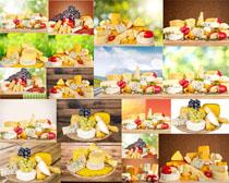 早餐奶酪与水果摄影高清图片