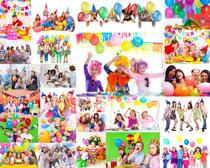 开派对的儿童摄影高清图片
