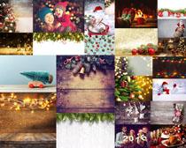 圣誕節裝飾物攝影高清圖片