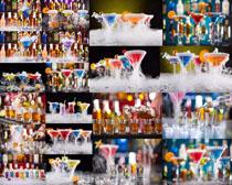 彩色香槟酒水展示摄影高清图片