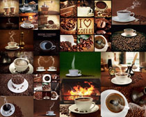 咖啡食材与杯子摄影高清图片
